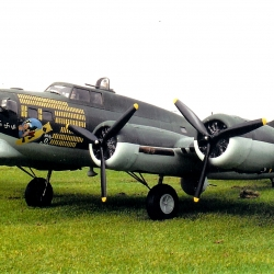 B17. 158'' span powered by 4 Laser 70's.      Own design model by Jan Hermkens - The Netherlands